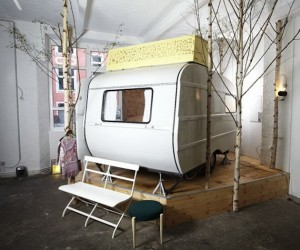 Indoor Trailer Camping at Huetten Palast