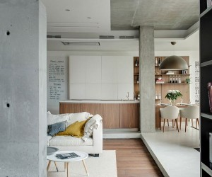 Industrial Chic: Apartment in Odessa Embraces Cozy, Space-Savvy Design