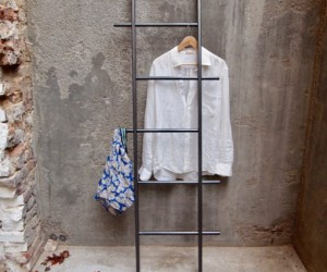 Industrial Clothes ladder | Towel rack in steel By Tidyboy - Berlin