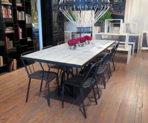 Industrial Crank Dining Table 8ft.