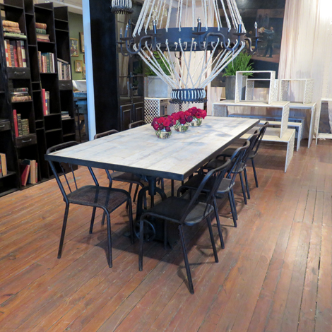 Industrial Crank Dining Table 8ft