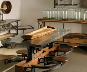 Industrial Lunchroom Dining Table at HudsonGoods.com