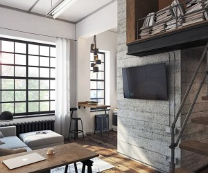 Industrial mini-loft by Aleksander Raszczenko