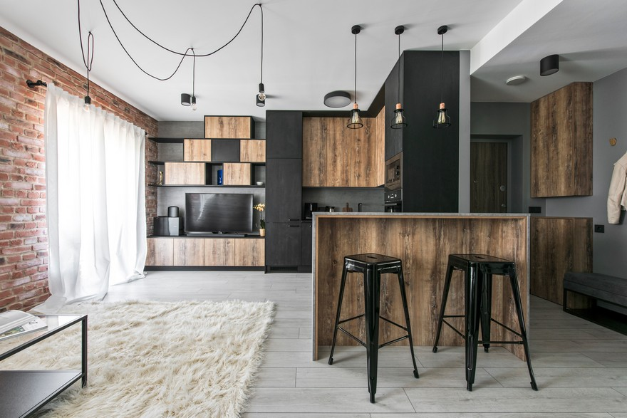 Industrial modern apartment in vilnius lithuania for Design apartment 50m2