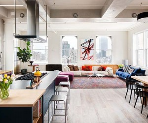 Industrial SoHo Loft Showcasing Homy Interiors by Casamanara