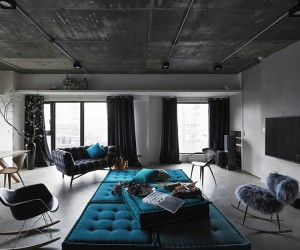 Industrial Style Apartment in Taipei by Ganna Design
