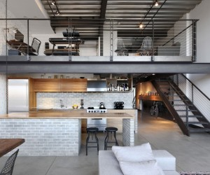 Industrial-style loft creates the perfect Bachelor Pad