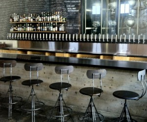 Industrial Swivel Bar Stool at HudsonGoods.com