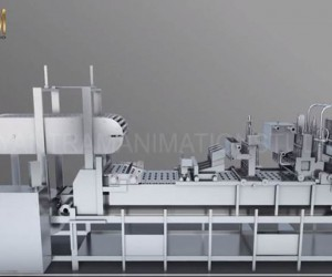 Industry Processing Vacuum FILLING Machine | 3D Product Modeling company of Multi-Container Machinery animation