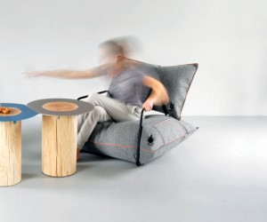 Inflatable Wool  Air Armchair by Malafor