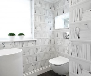 Ingenious Bathrooms that Embrace Your Love for Books