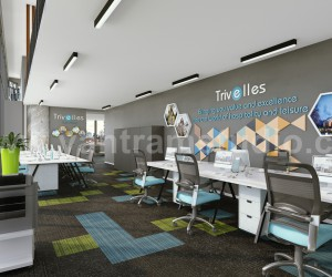 Innovative 3D Office Interior Design by Yantram Architectural Design Studio, Dubai - UAE