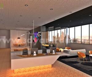 Innovative 3D Office Interior Design View