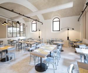 Inside Osteria Bartolini Restaurant in Bologna