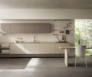Inspired by Japanese Minimalism: Posh Scavolini Kitchen Conceals It All