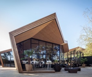 Inspired by the Art of Origami: Creative Beach Club Restaurant in Luxembourg