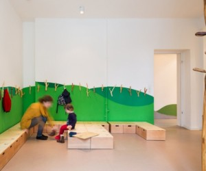 Inspired by the organic: indoor childrens playgrounds by Baukind