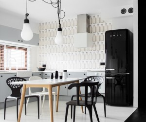 Instantly Captivating BlackWhite Studio in Poznan: Domo Nomad Space