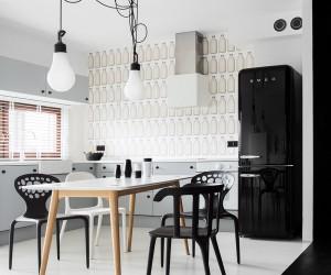 Instantly Captivating BlackWhite Studio in Poznan: Domo Nomad Space