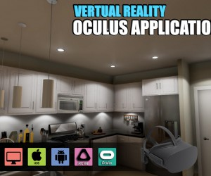 Interactive Virtual Reality Kitchen Design for Oculus Device vr development by Architectural Visualisation Studio, Moscow  Russia