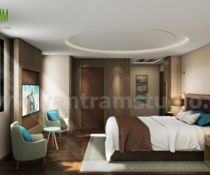 Interior Bedroom Design with home renovation concept - Paris, France