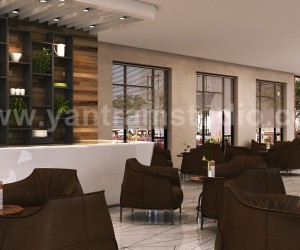 Interior Cafe  Reception Concept ideas by Yantram Architectural Rendering Companies, Bern - UK