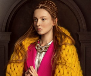 IQON Images Combine Medieval Art and High Fashion Hair