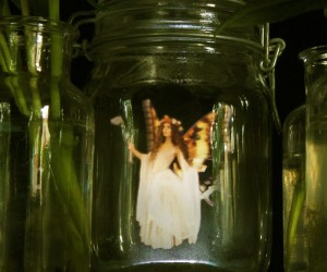 Jam Jar Fairies - Holographic Video Sculptures