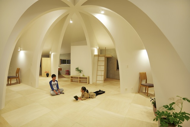 Japanese dome home for Different interior designs of houses