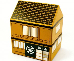 Japanese teahouse-shaped bento box