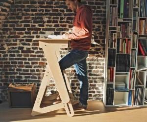 JASWIG StandUp  Adjustable Standing Desk Made of Wood