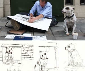 John and George: A Man Battles Demons With Drawings and a Dog.