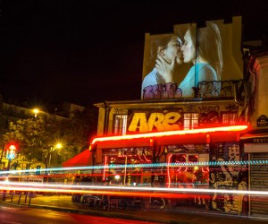 Julien Nonnon French Kiss digital street art project in Paris