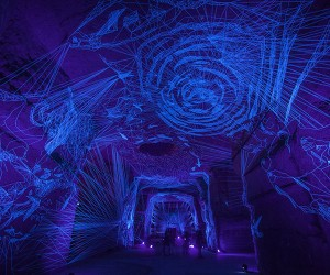Julien Salauds Immersive UV-Illuminated Installation