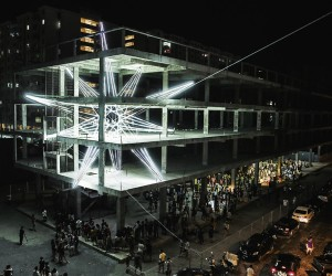 Jun Ongs Five-Storey Star Lighting Installation