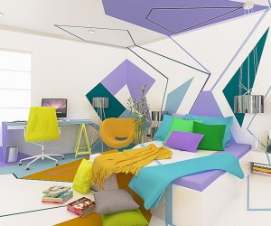 Kandinsky-Inspired Interior Design by Brani  Desi