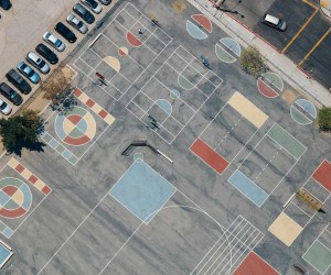Karl Hab Captures Stunning Views of LAs Tennis and Basketball Courts From Above
