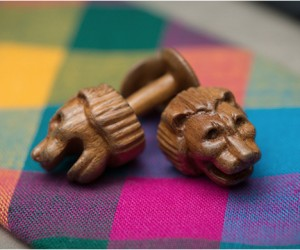 Karv Wooden Cufflinks