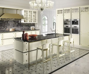 Kelly: Chic Modern Kitchen Wrapped in Intricate, Timeless Panache