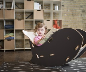 Kids Whale-Shaped Rocking Chair
