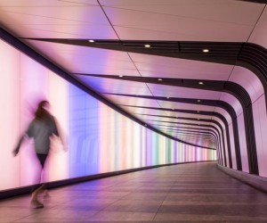 Kings Cross Pedestrian Tunnel with Integrated Lightwall