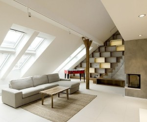 Kissed by style: attic loft in Prague