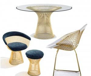 Knoll Launches 18k Gold Plated Vintage Classics
