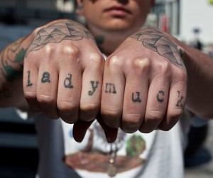 Knuckle Tattoos by Edward Bishop