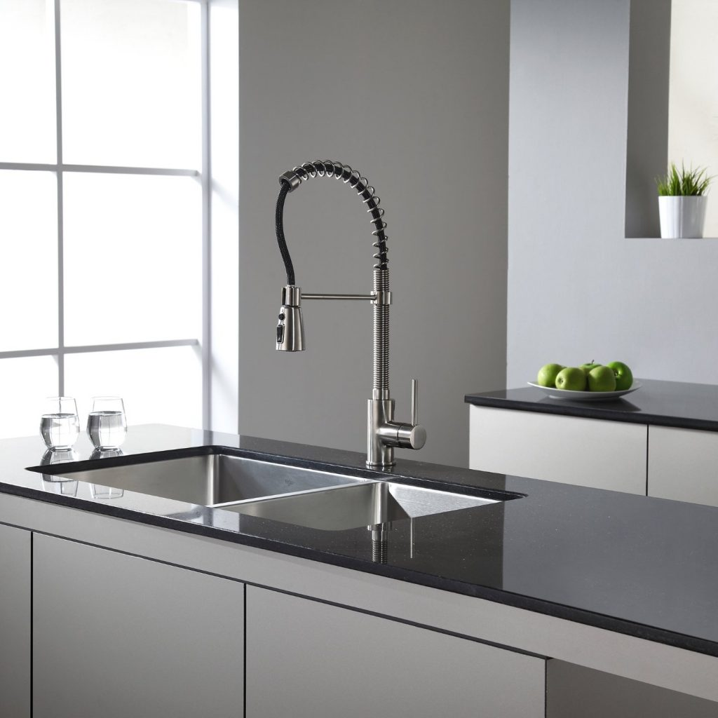 Kraus KHU102-33 Undermount 5050 Double Bowl Kitchen Sink