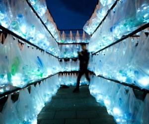 Labyrinth of Plastic Waste by Luzinterruptus