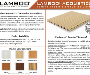 Lamboo Acoustics Series Product Line