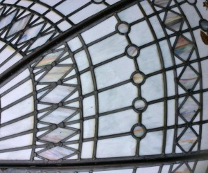 Leaded glass ceiling dome