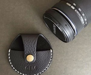 Leather Camera Cap