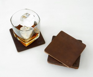 Leather Coasters by JZD:MERCANTILE
